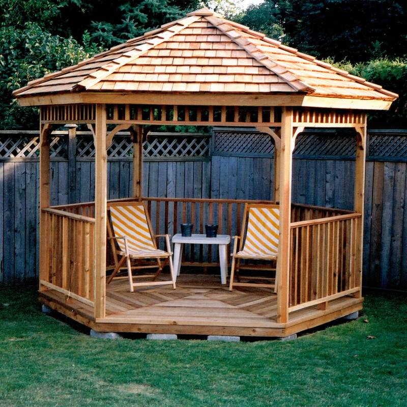 Custom Gazebo Plans, 10 ft Hexagon, step by step instructions