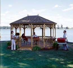Custom Gazebo Plans, 10 x 16 Hexagon, simple step by step plans