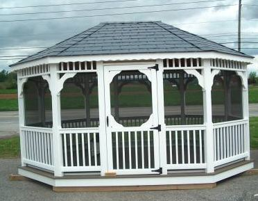 Custom Gazebo Plans, 10 x 16 Octagon, construction blueprints