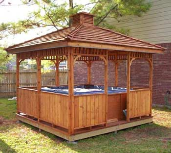 Custom Gazebo Plans, 12ft Square Hip Roof, with step by step