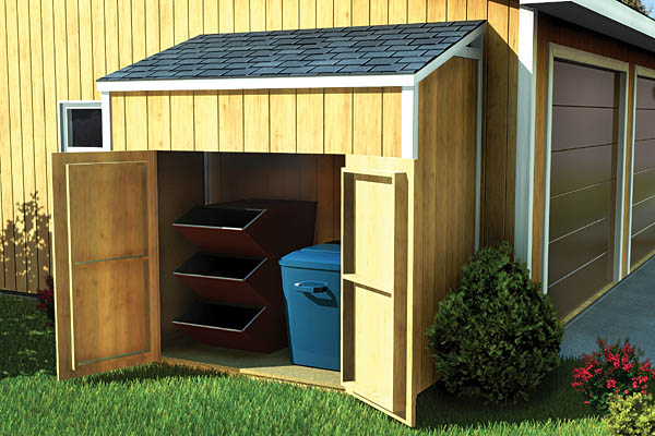 Slant Roof Shed Plans, 4 x 8 Shed, Detailed Building Plans