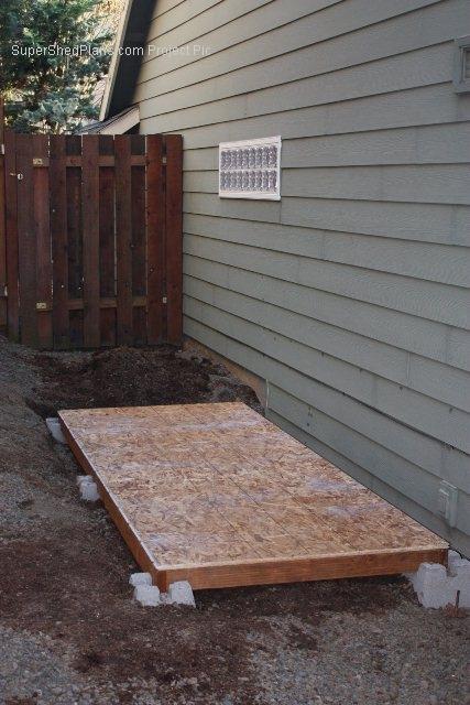 slant roof shed plans download
