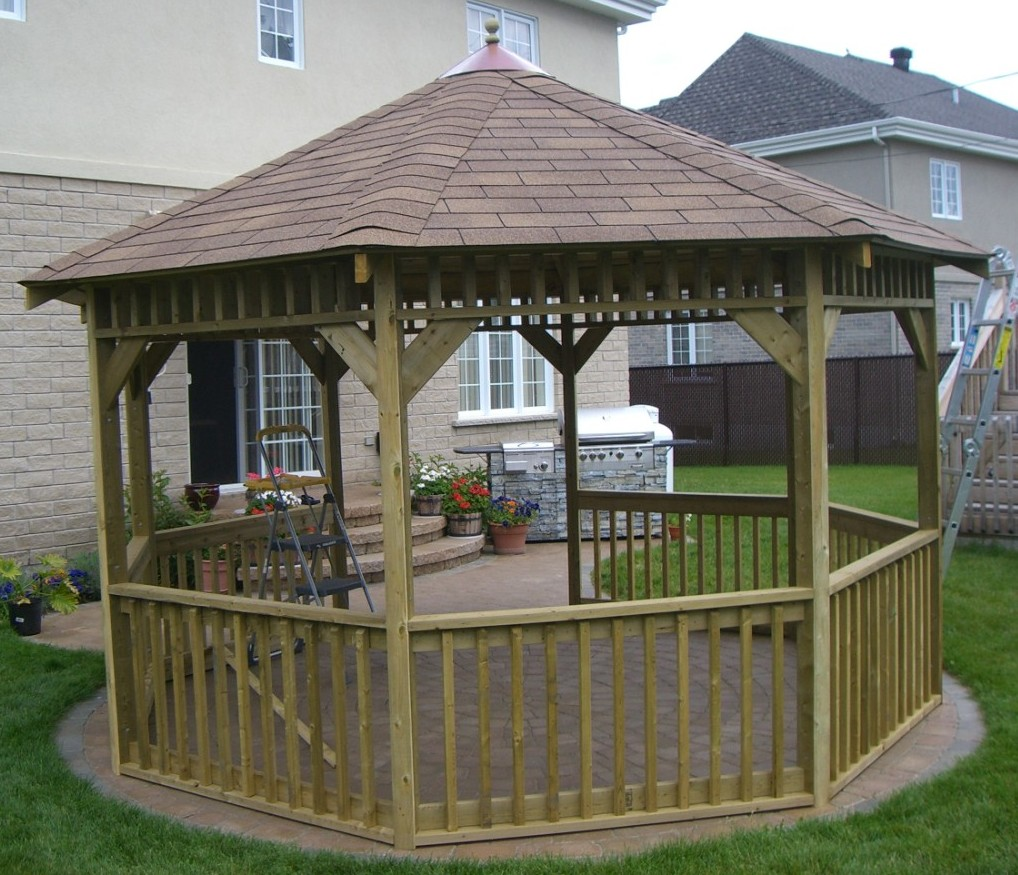 Custom Gazebo Plans, 12ft Octagon, gazebo blueprints