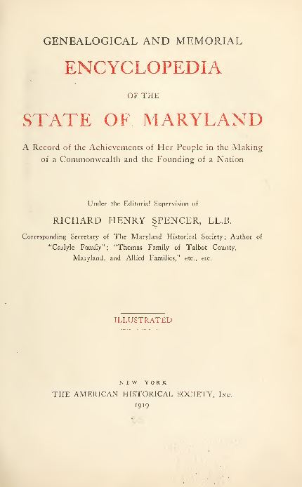Maryland Genealogy