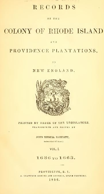 Rhode Island Genealogy