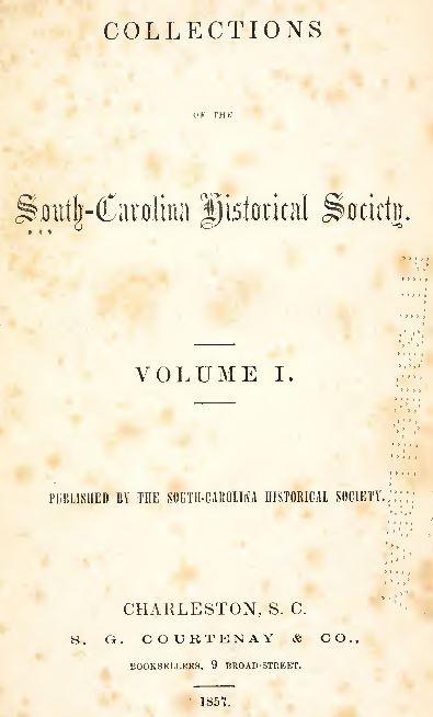 South Carolina History and Genealogy
