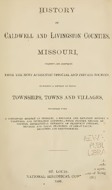 Missouri History and Genealogy
