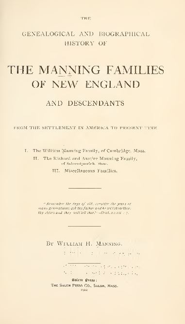 New England History and Genealogy