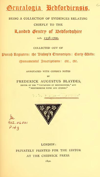 England History and Genealogy
