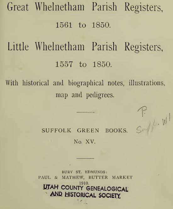 England History and Genealogy