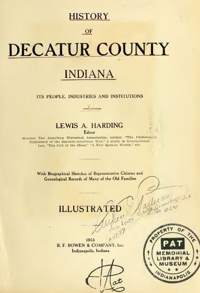 Indiana History and Genealogy