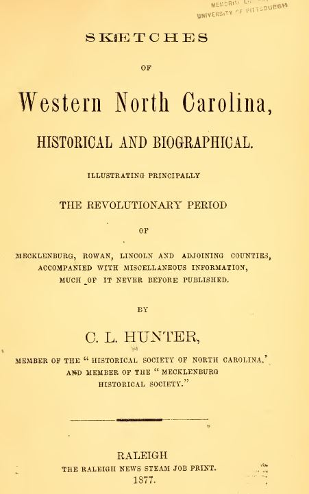 North Carolina History and Genealogy