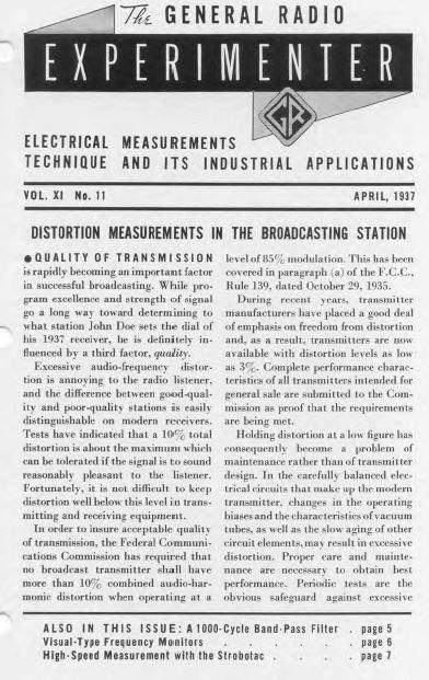 General Radio Experimenter