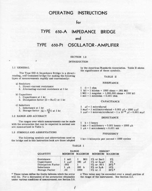General Radio Historic Manuals
