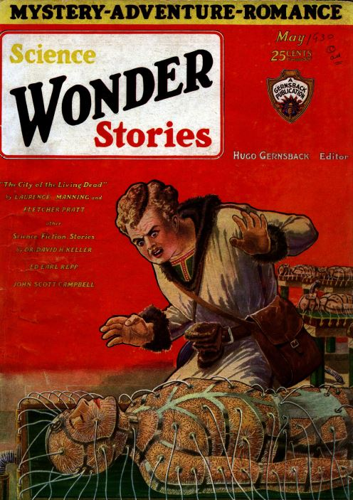 Air and Science Wonder Stories Pulp Fiction Magazine