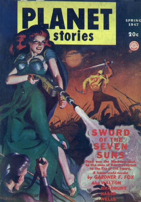 Planet Stories Pulp Fiction Magazine