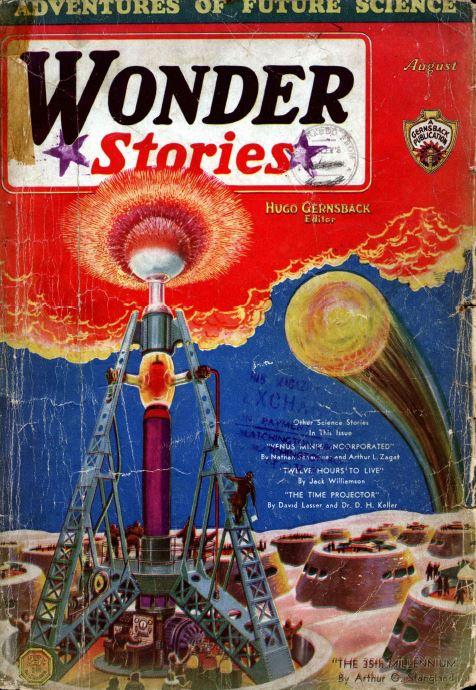 Wonder Stories Pulp Fiction Magazine