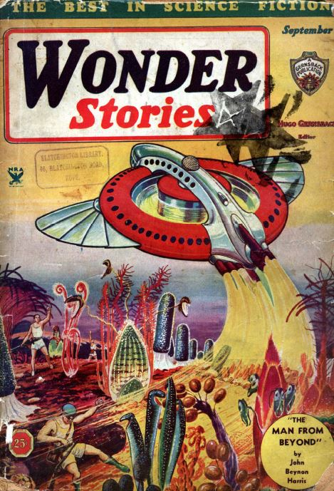 Wonder Stories Pulp Fiction Magazine