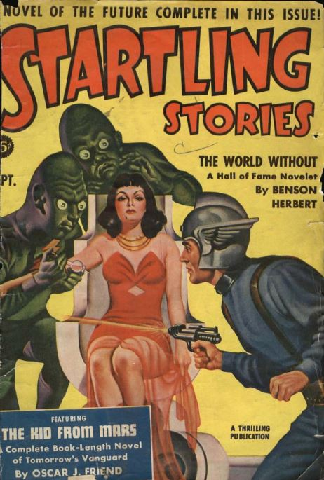 Startling Stories Pulp Fiction Magazine