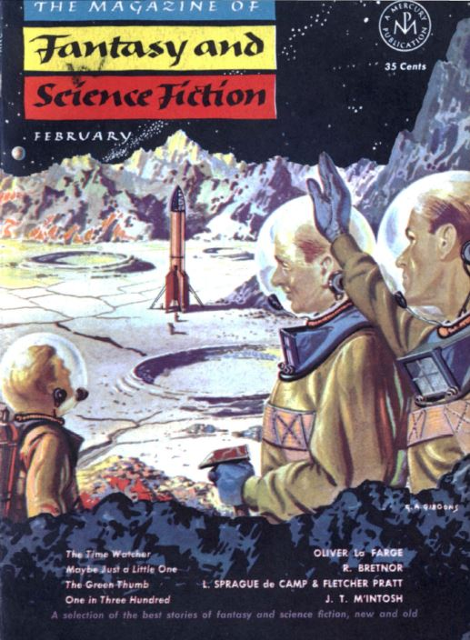 Fantasy and Science Fiction Pulp Fiction Magazine
