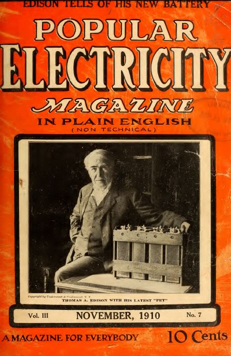 Popular Electricity Magazine 72 Vintage Issues From 1908