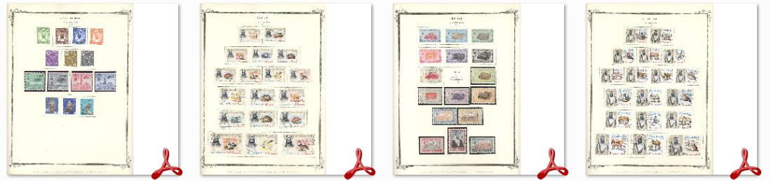 Printable Stamp Album Pages Library