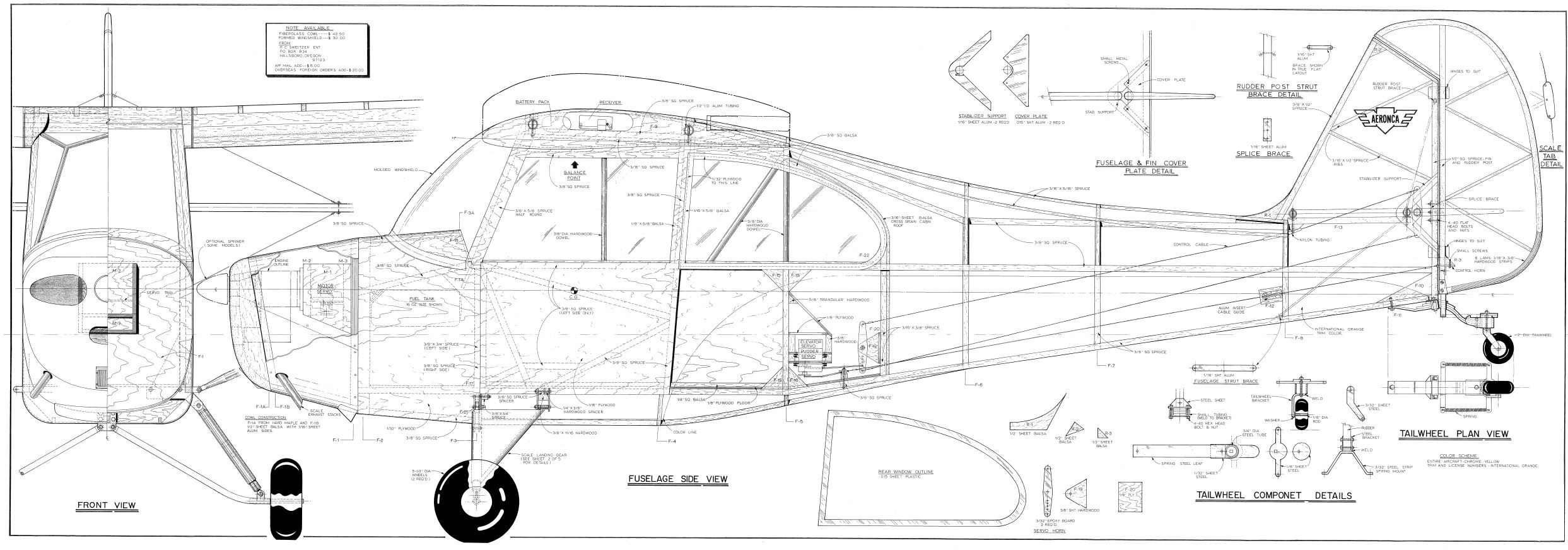 550 Full Scale Rc Model Airplane Plans Templates Scratch