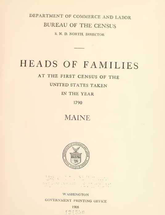 1790 Census Books
