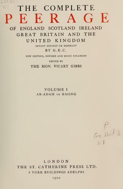 Complete Peerage UK