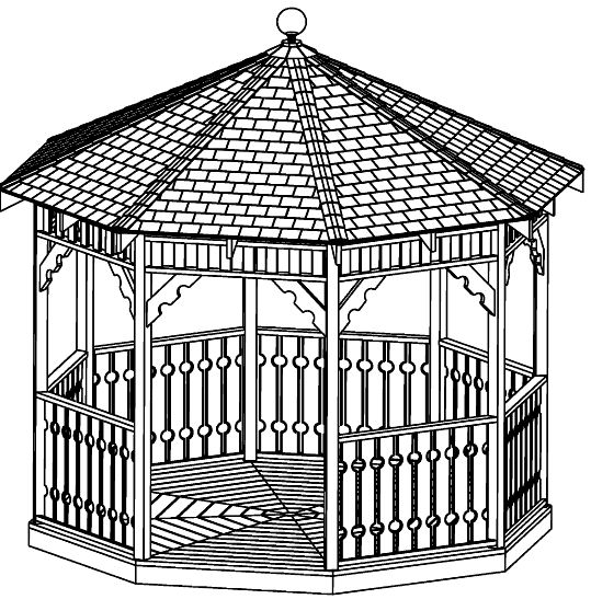 12 ft Octagon Gazebo Plan