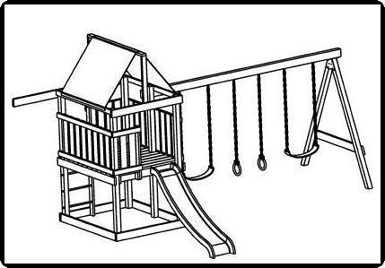 Custom jungle gym plans deluxe swing set construction for Jungle gym plans