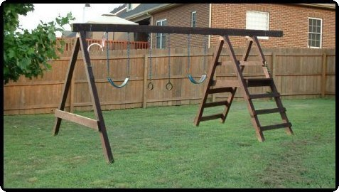 Custom Jungle Gym Plans, Easy Swing Set, Building Guides