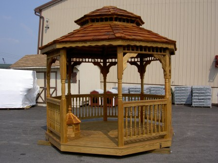 Custom Gazebo Plans, 12ft Double Roof Octagon, elegant style
