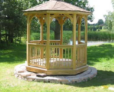 Custom Gazebo Plans, 8 ft Octagon, Detailed Blueprints
