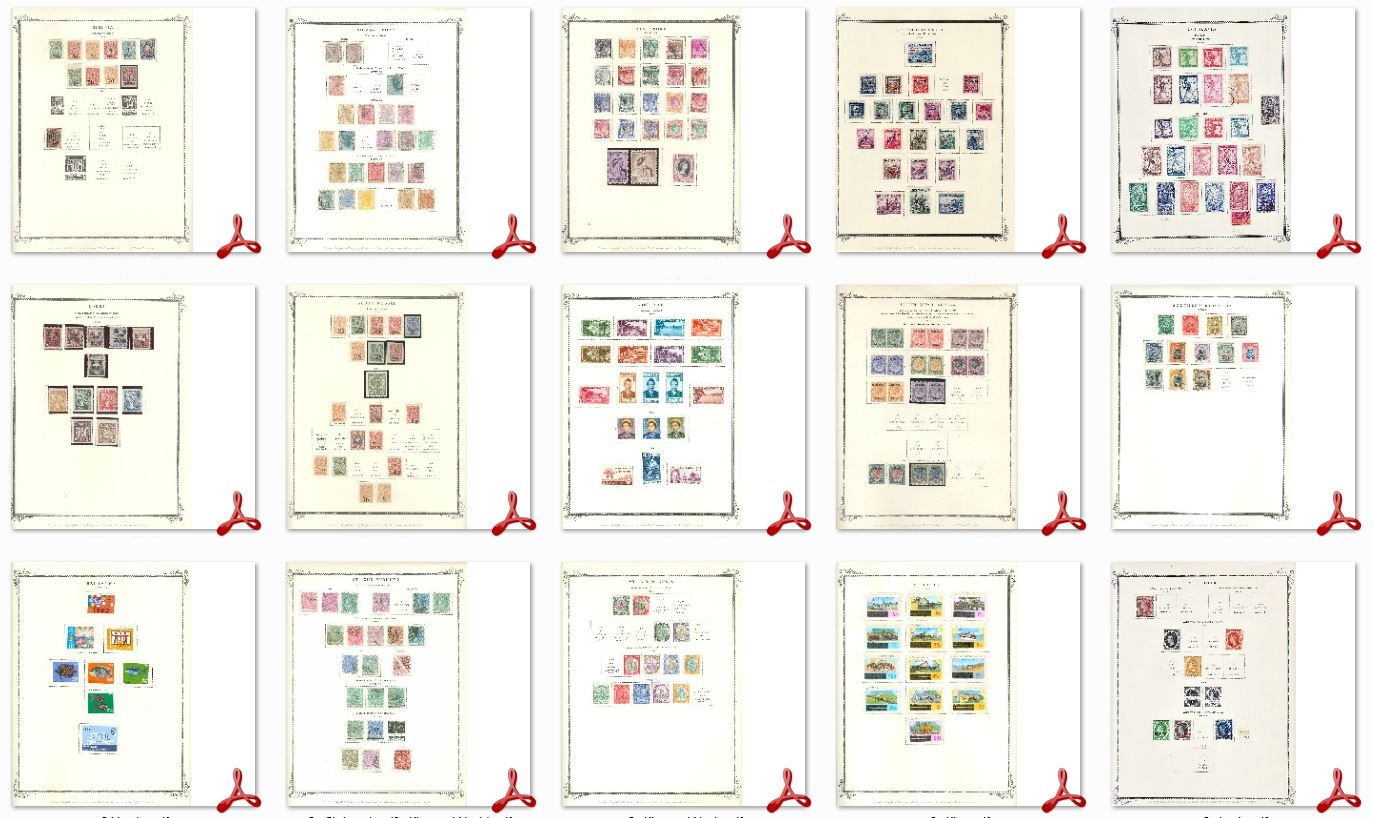 33,000 Printable Stamp Album Pages, Over 375+ Countries ...