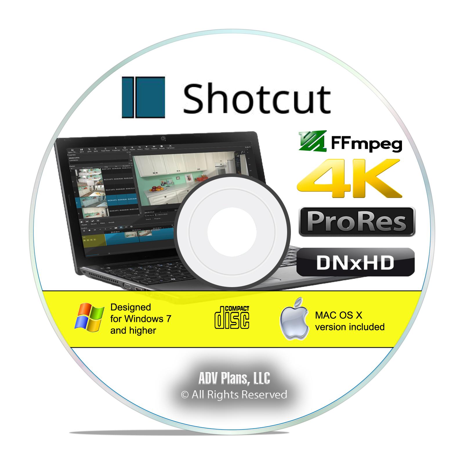 Details about Shotcut, Digital Darkroom Video Editing Software Suite CD,  Win/Mac/Linux I06