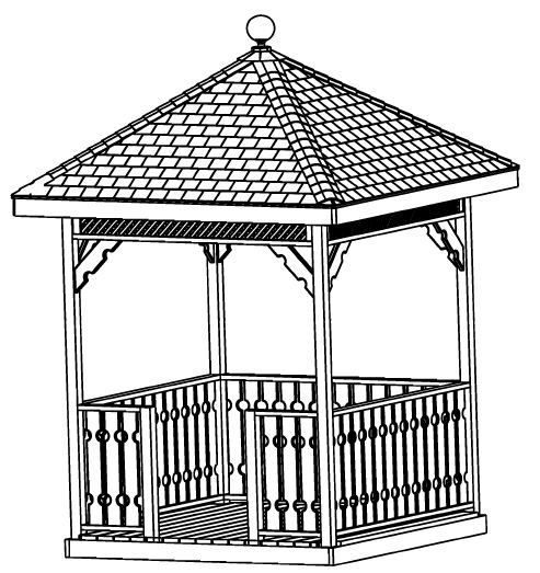 Gazebo plans package 13 different original designs step for How to build a square gazebo