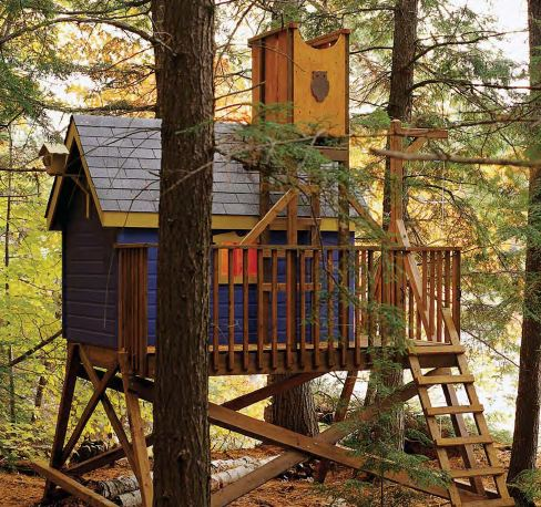 Custom jungle gym plans deluxe tree house full detailed for Jungle gym plans